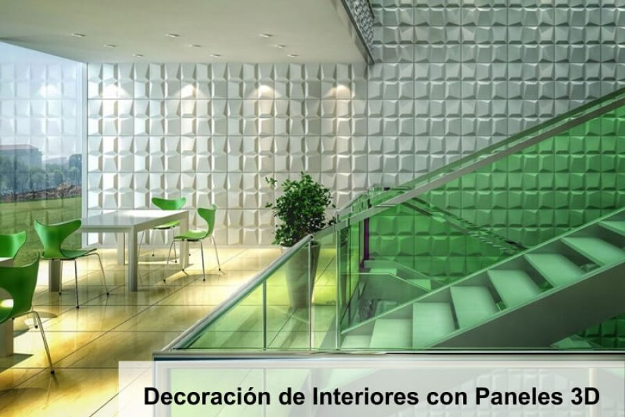 Decoración de Interiores con Paneles Decorativos 3D
