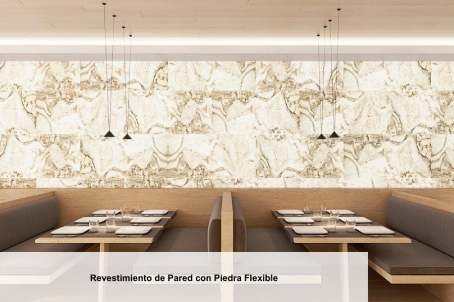 Revestimientos de Pared con Piedra Flexible